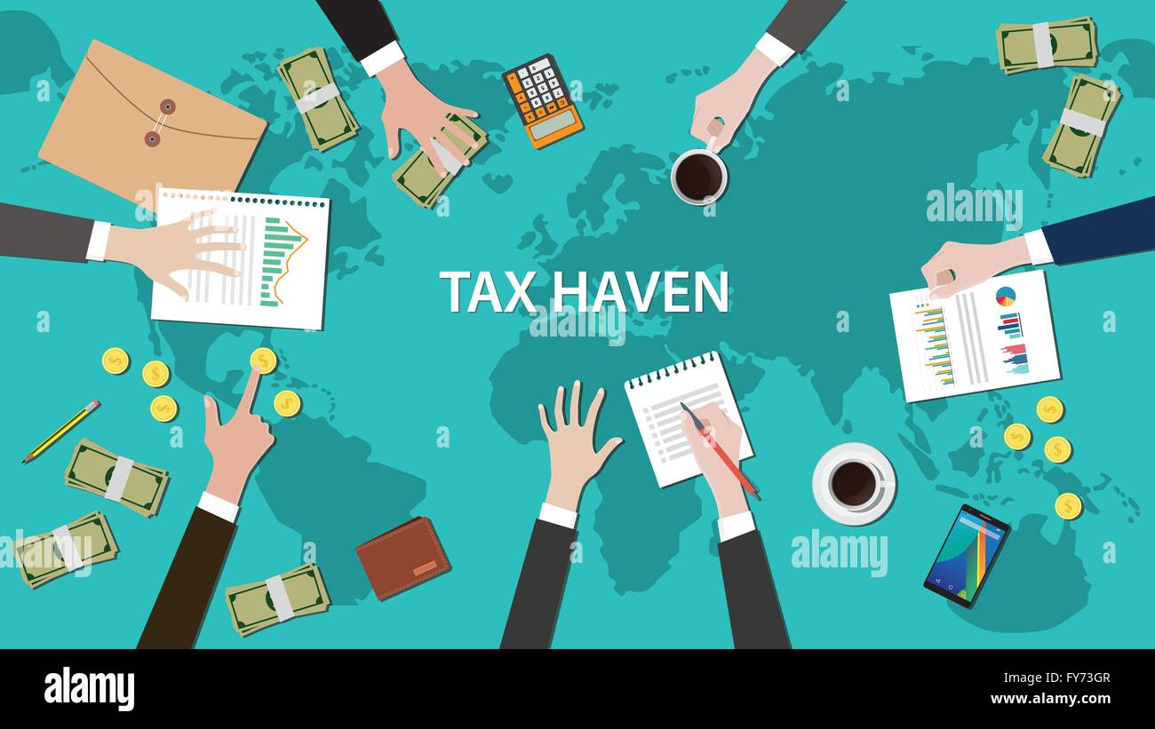 Tax Haven Panama Papers Concept With Money World Map Document - World map panama