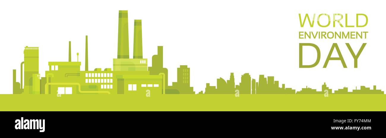 silhouette green plant world environment day factory