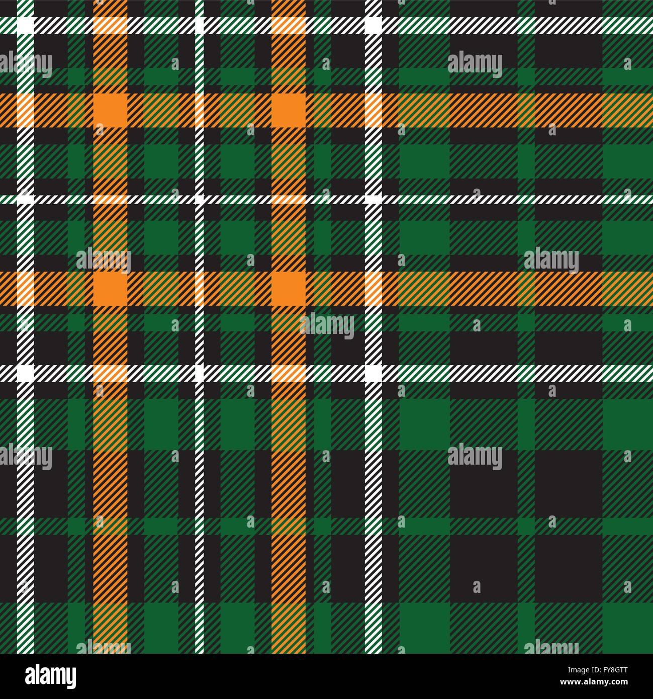 Green Tartan Celtic Fc Seamless Pattern Fabric Texture Vector Illustration EPS 10 No Transparency Gradients