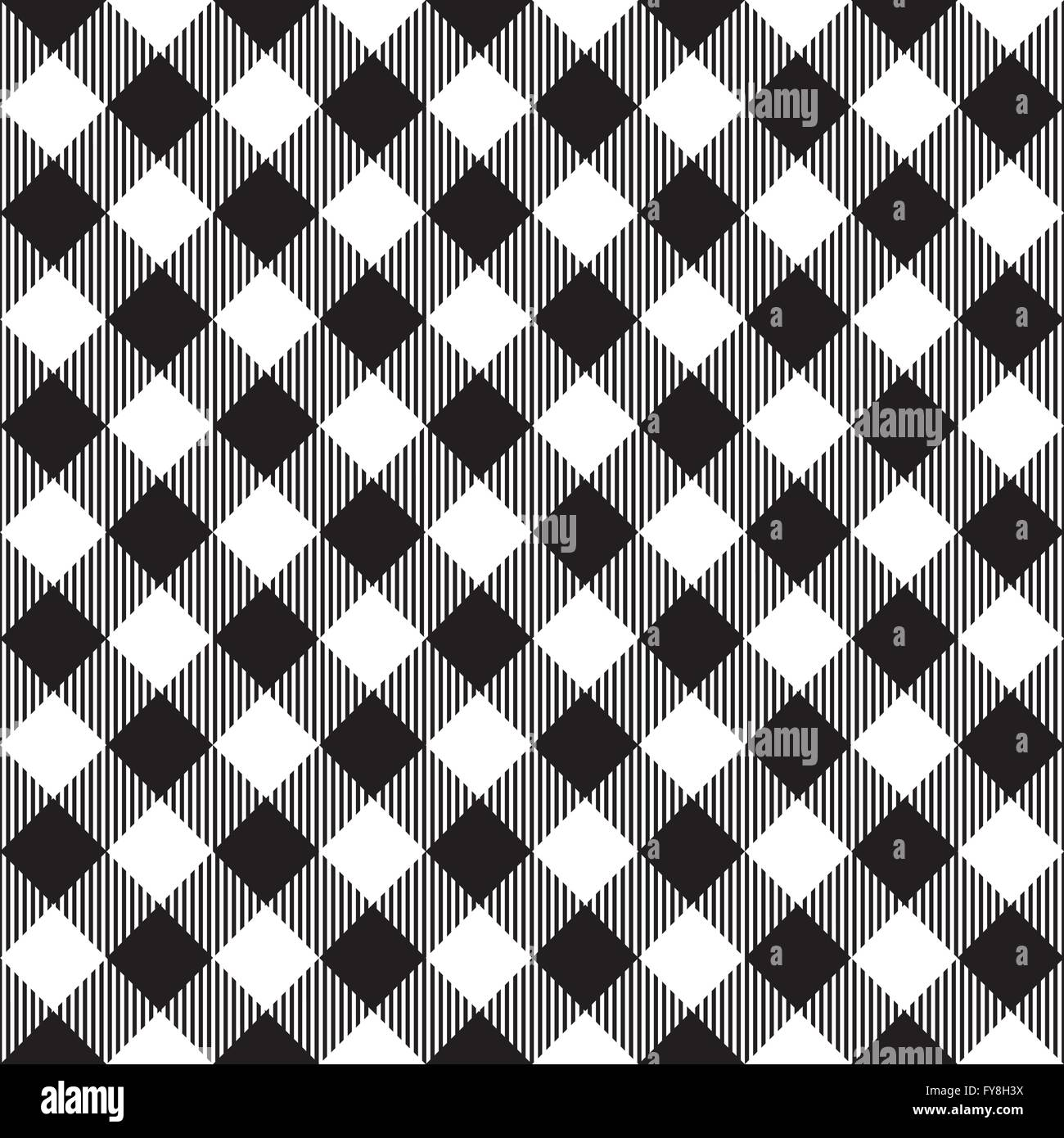 Black Tablecloth Diagonal Seamless Pattern. Vector Illustration Of  Traditional Gingham Dining Cloth With Fabric Stock