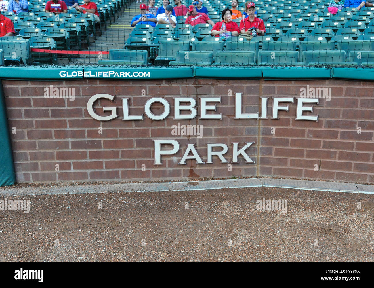 Apr 20 2016 The Wall Behind Home Plate At Globe Life Park Before An