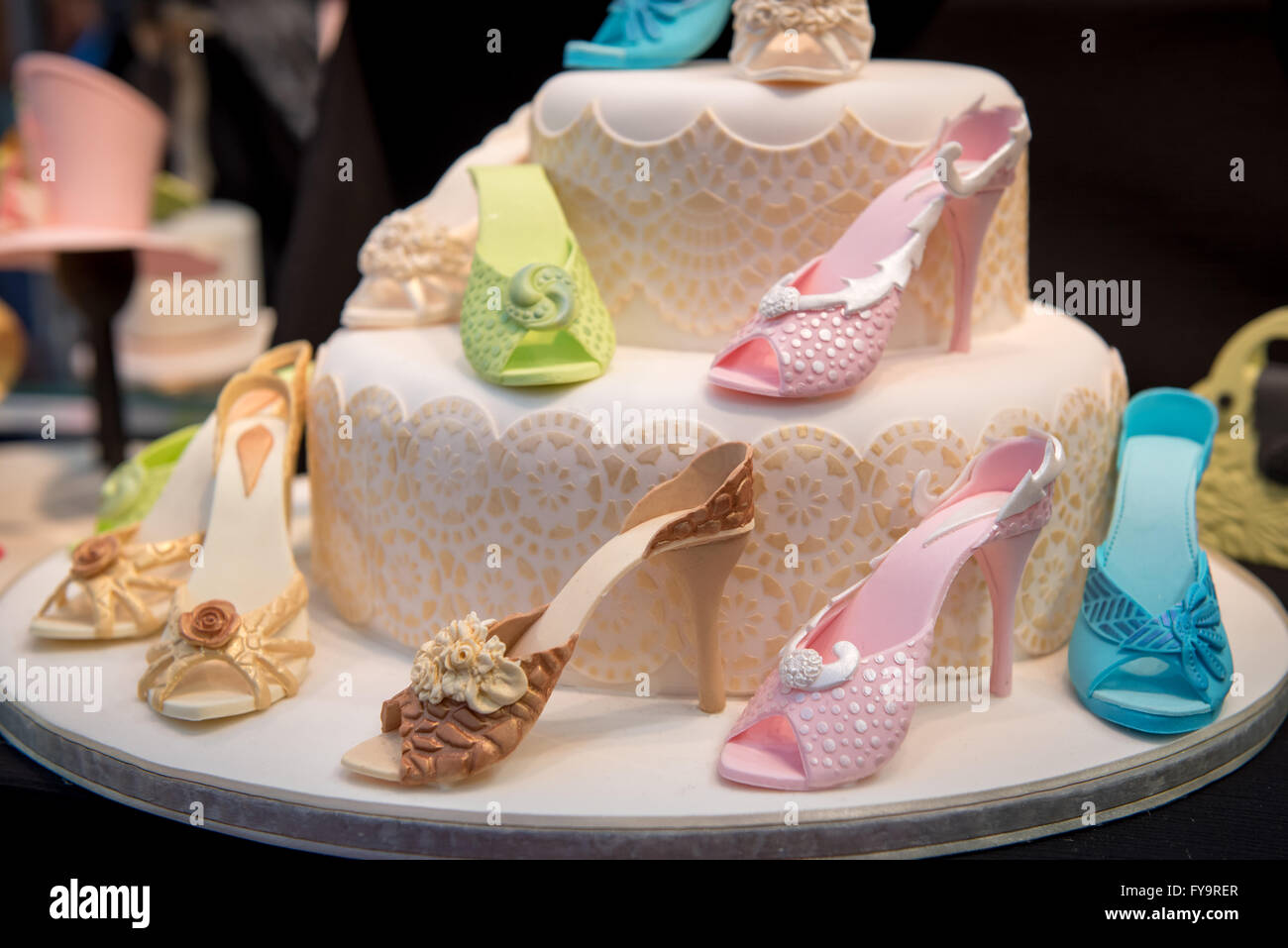 Cake Decorating Stock Images : Edible high heels shoes birthday cake decor at Cake ...