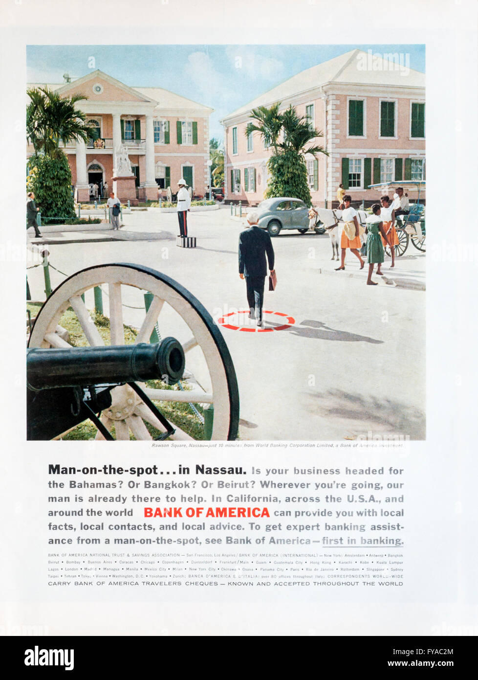 The world bank sl a bangkok - 1960s Magazine Advertisement Advertising Bank Of America Stock Image