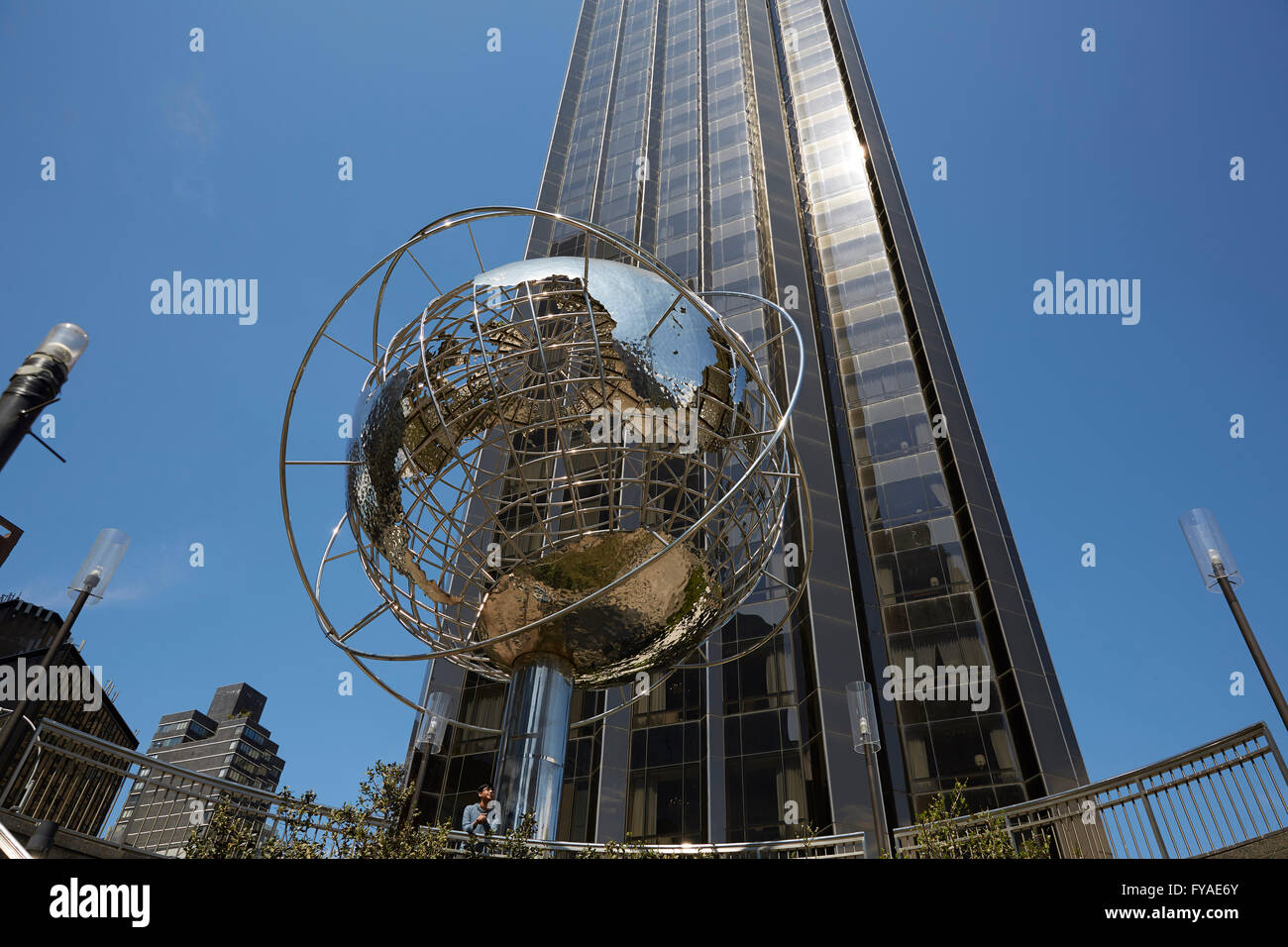 24 april new york ny usa trump international hotel and tower 1 central park west on columbus circle between central park we