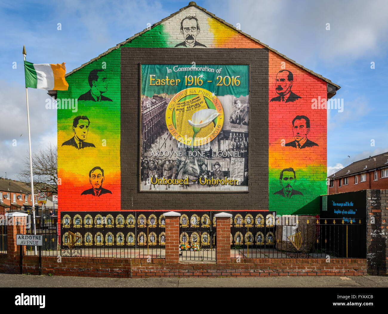 1916 easter rising mural to commemorate the centenary in for Easter rising mural