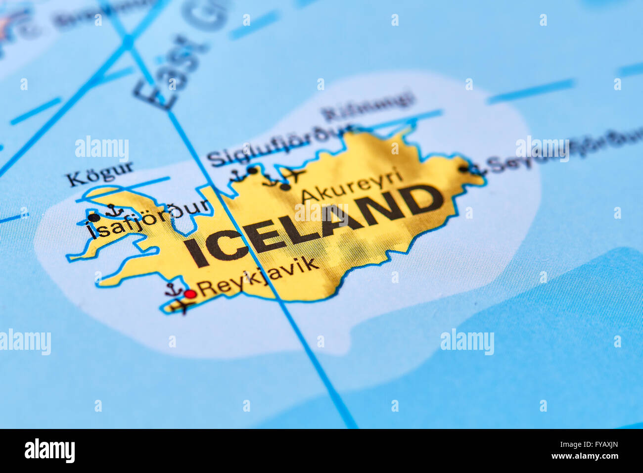 Iceland Country In Europe On The World Map Stock Photo Royalty - Iceland map world