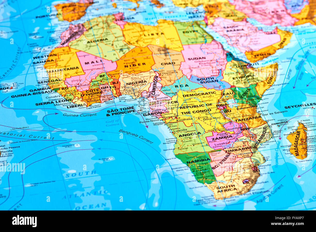 Africa Oldest Continent On The World Map Stock Photo Royalty - Current world map