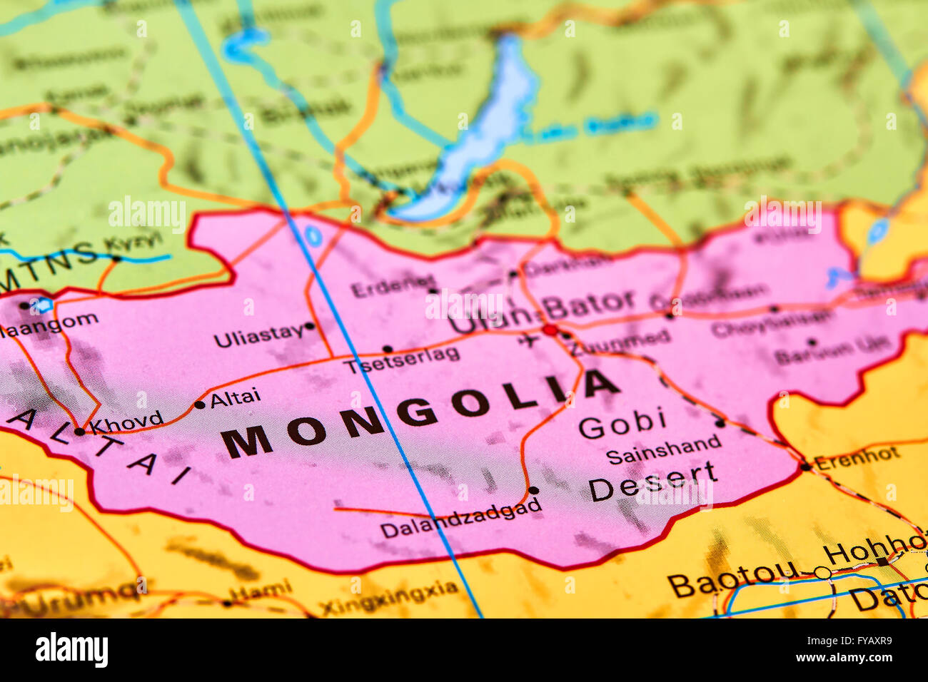 Mongolia country in asia on the world map stock photo royalty mongolia country in asia on the world map gumiabroncs Choice Image