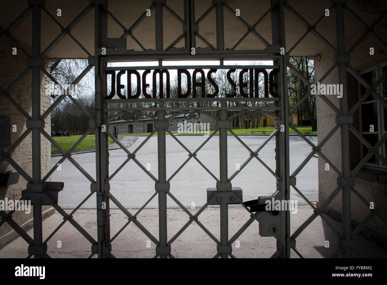 The main gate entrance to Buchenwald Concentration Camp ...