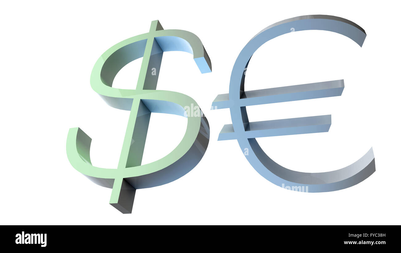 3d illustration of dollar and euro currency symbols isolated stock 3d illustration of dollar and euro currency symbols isolated buycottarizona Choice Image