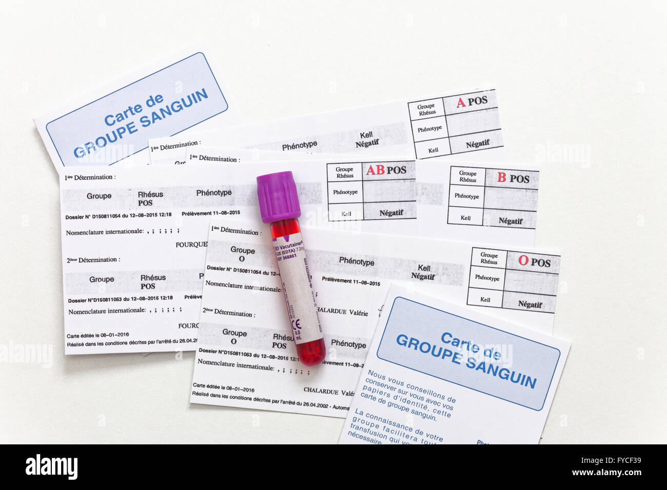 Blood group card stock photo royalty free image 102922829 alamy blood group card xflitez Images