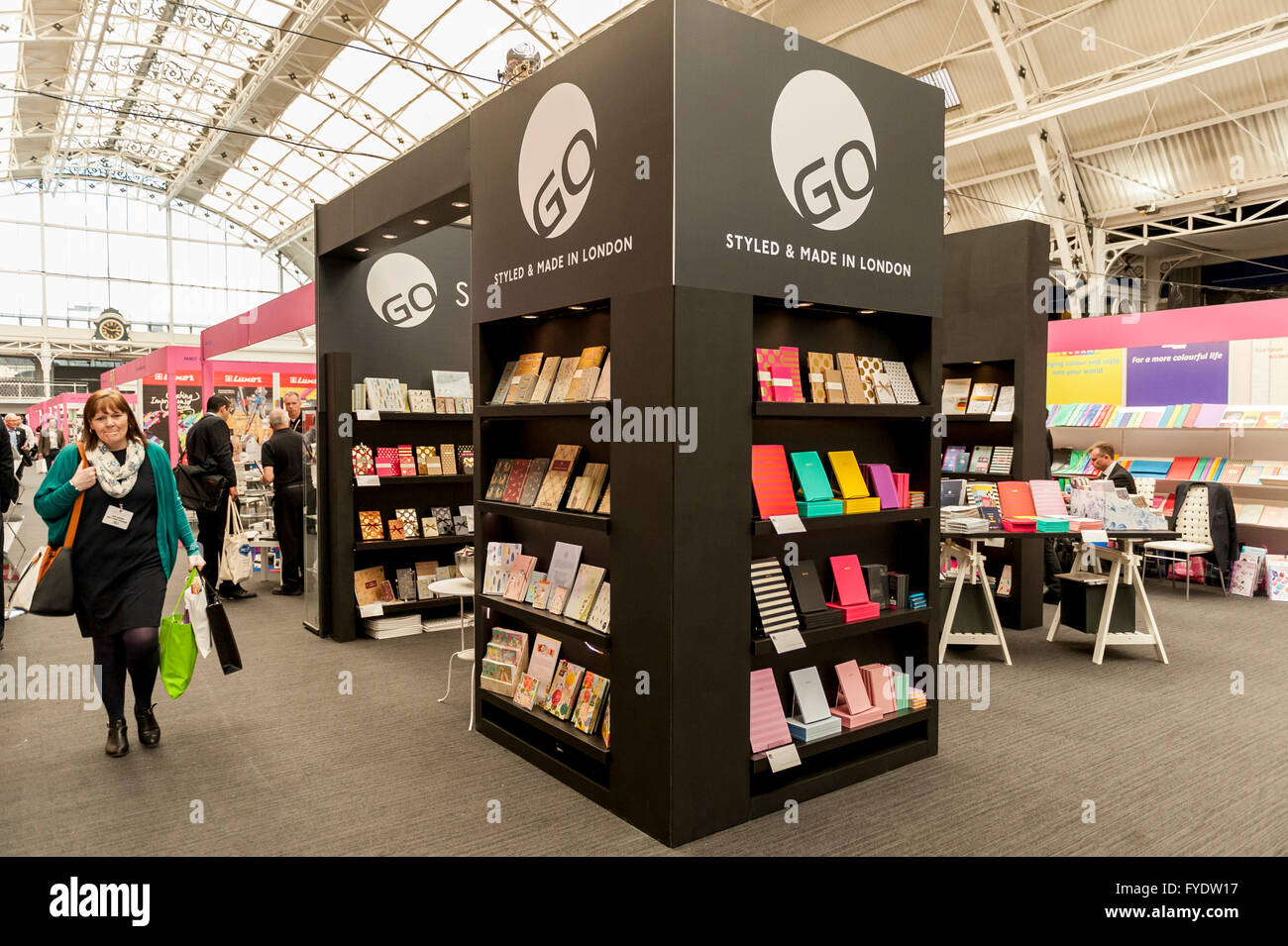 London UK 26 April 2016 The London Stationery Show opens at the