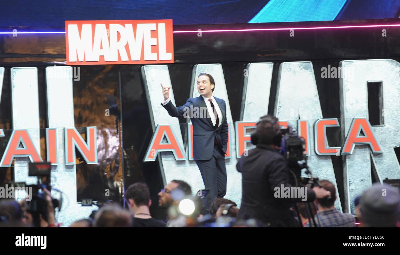 Sebastian Stan Civil War Premiere