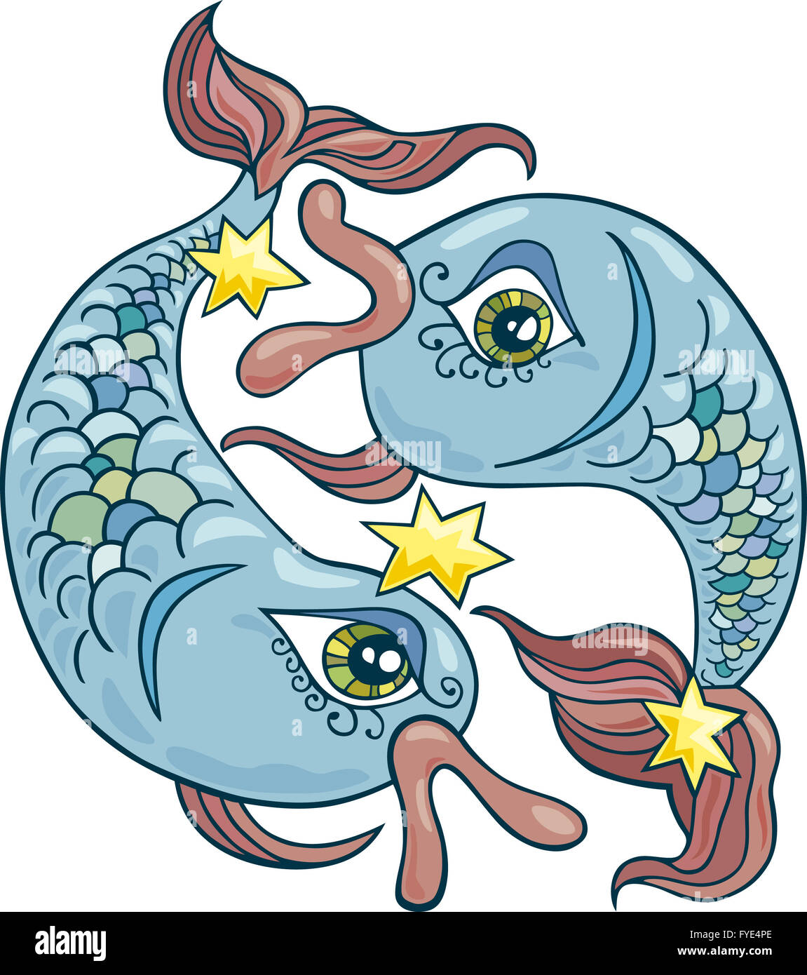 Zodiac Pisces Sign Stock Photo Royalty Free Image 102958646 Alamy