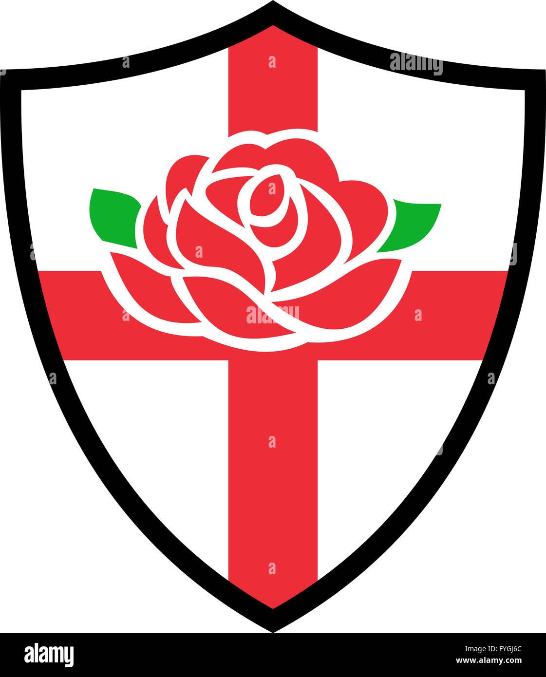 Rugby england english rose shield stock photo royalty free image rugby england english rose shield buycottarizona