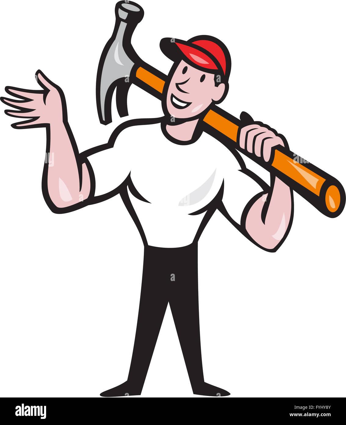 carpenter cartoon illustration stock vector art u0026 illustration