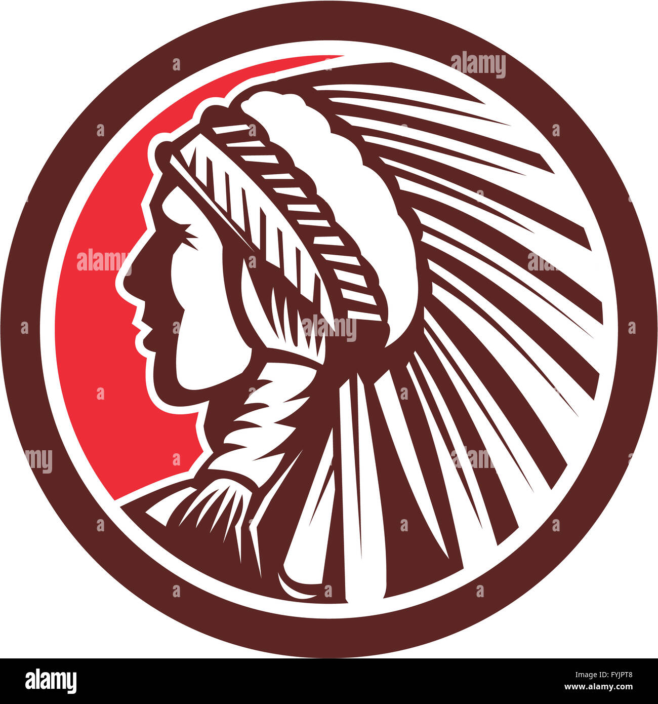 Native american warrior chief circle stock photo 103060616 alamy native american warrior chief circle buycottarizona Images