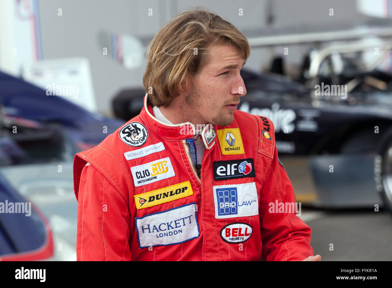 Freddie Hunt, son of James Hunt, was at the Silverstone ...
