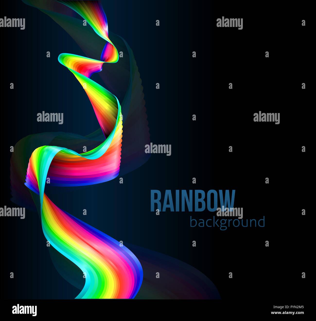 a rainbow color ribbon stripe spectrum flag background design