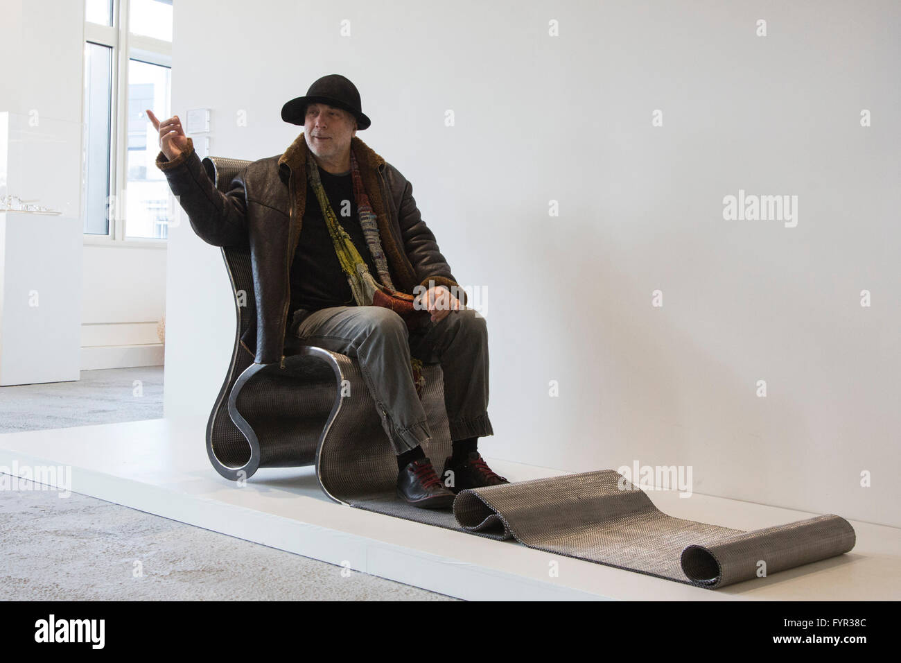 london, uk. 27 april 2016. designer ron arad sits on the important, Mobel ideea