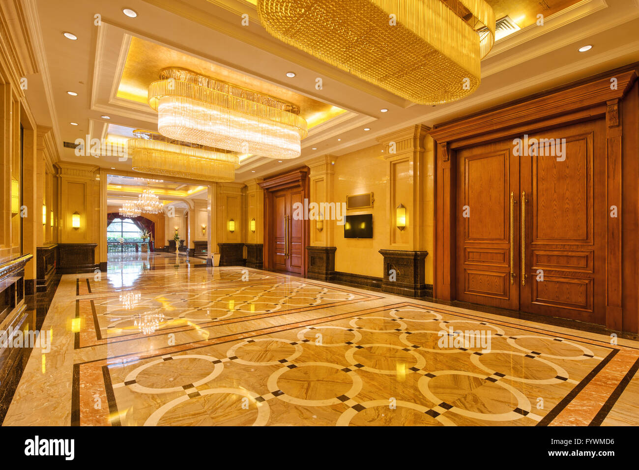 Interior Of Luxury Entrance Hall Stock Photo Royalty Free