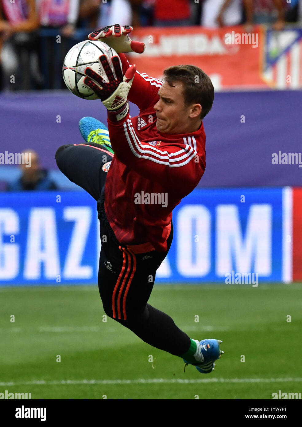 Madrid Spain 27th Apr 2016 Goalkeeper Manuel Neuer of FC