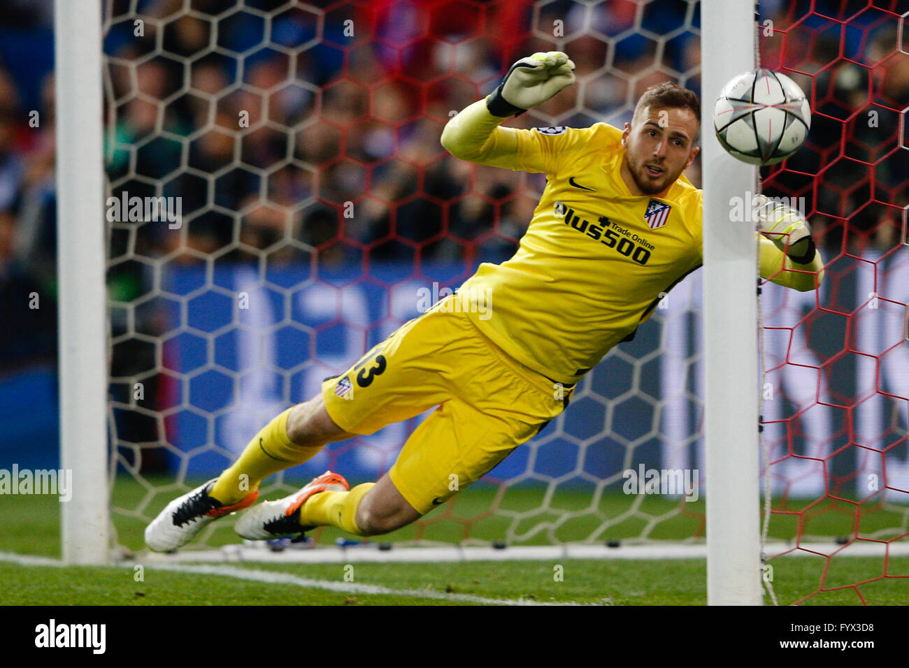 Madrid Spain 27th Apr 2016 Jan Oblak 13 Atletico Madrid