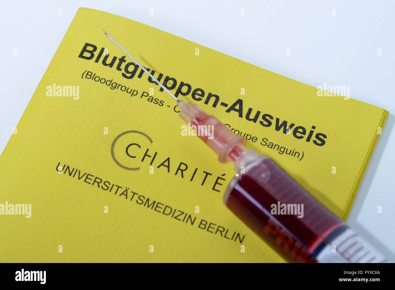 Blood group card stock photo royalty free image 102922829 alamy blood group badge blood type card taking blood sample blood test stock xflitez Images
