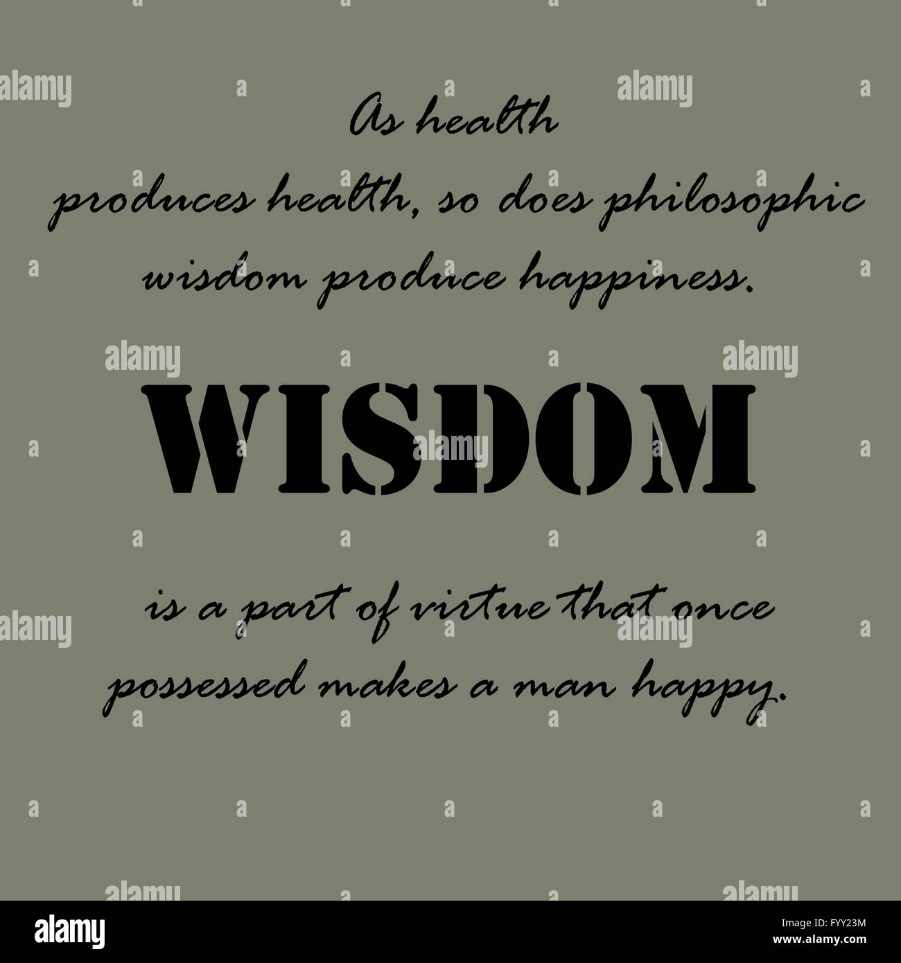 Aristotle Quotes On Happiness: Aristotle Quotes. As Health Produces Health Stock Vector