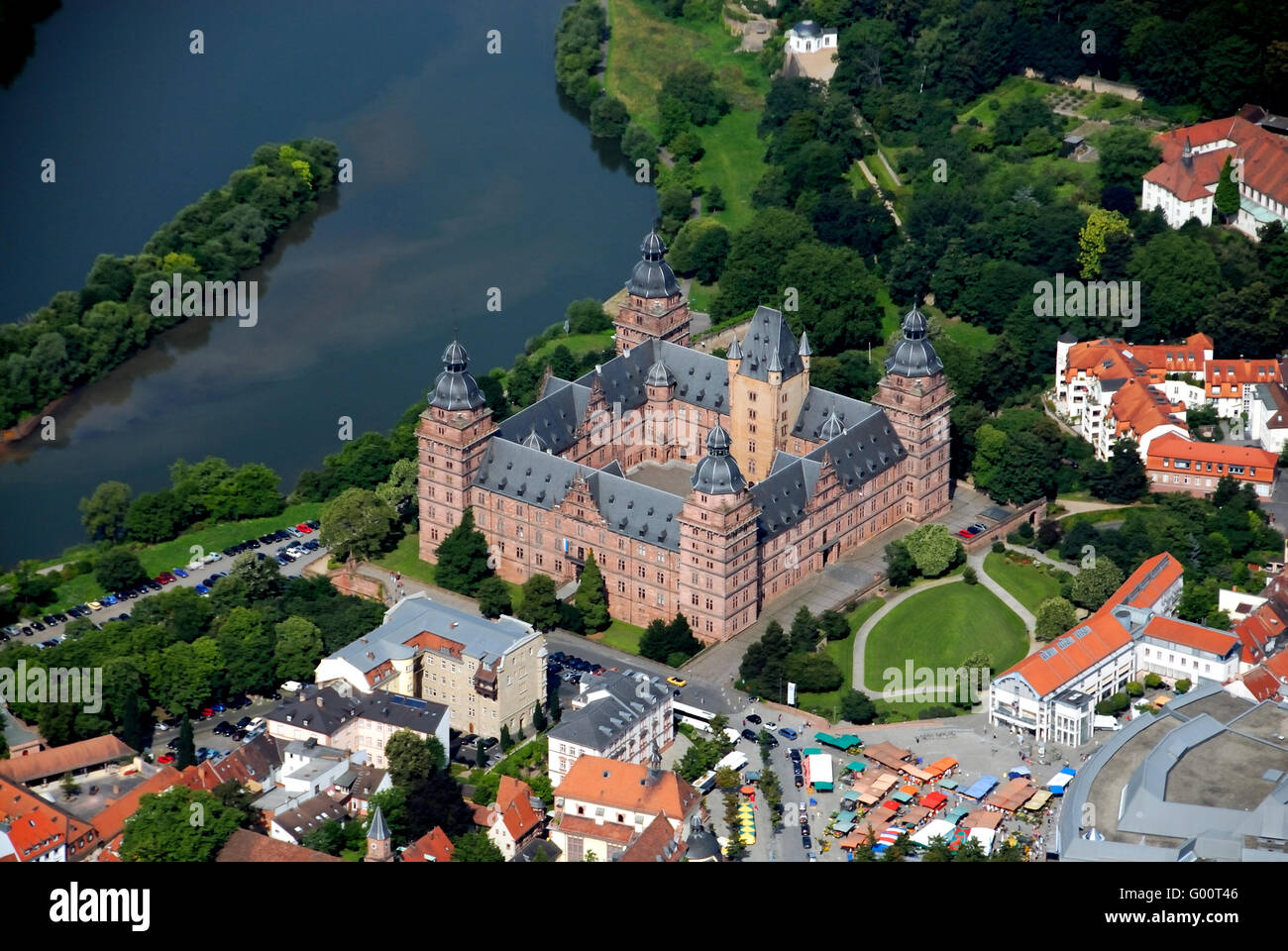 johannesburg castle in aschaffenburg germany stock photo. Black Bedroom Furniture Sets. Home Design Ideas