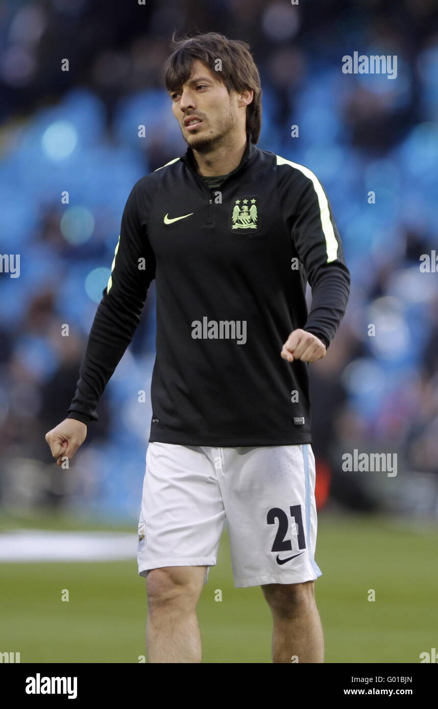 David Silva Manchester city in action during the match of
