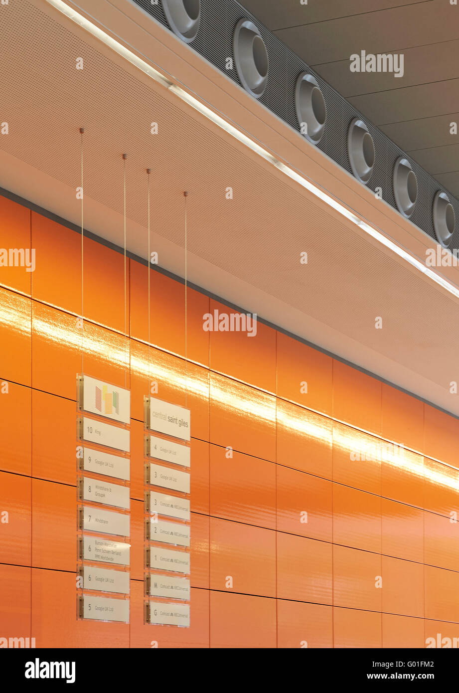 Detail of iconic orange colored ceramic tiles central saint giles detail of iconic orange colored ceramic tiles central saint giles london united kingdom architect renzo piano building workshop 2015 dailygadgetfo Choice Image