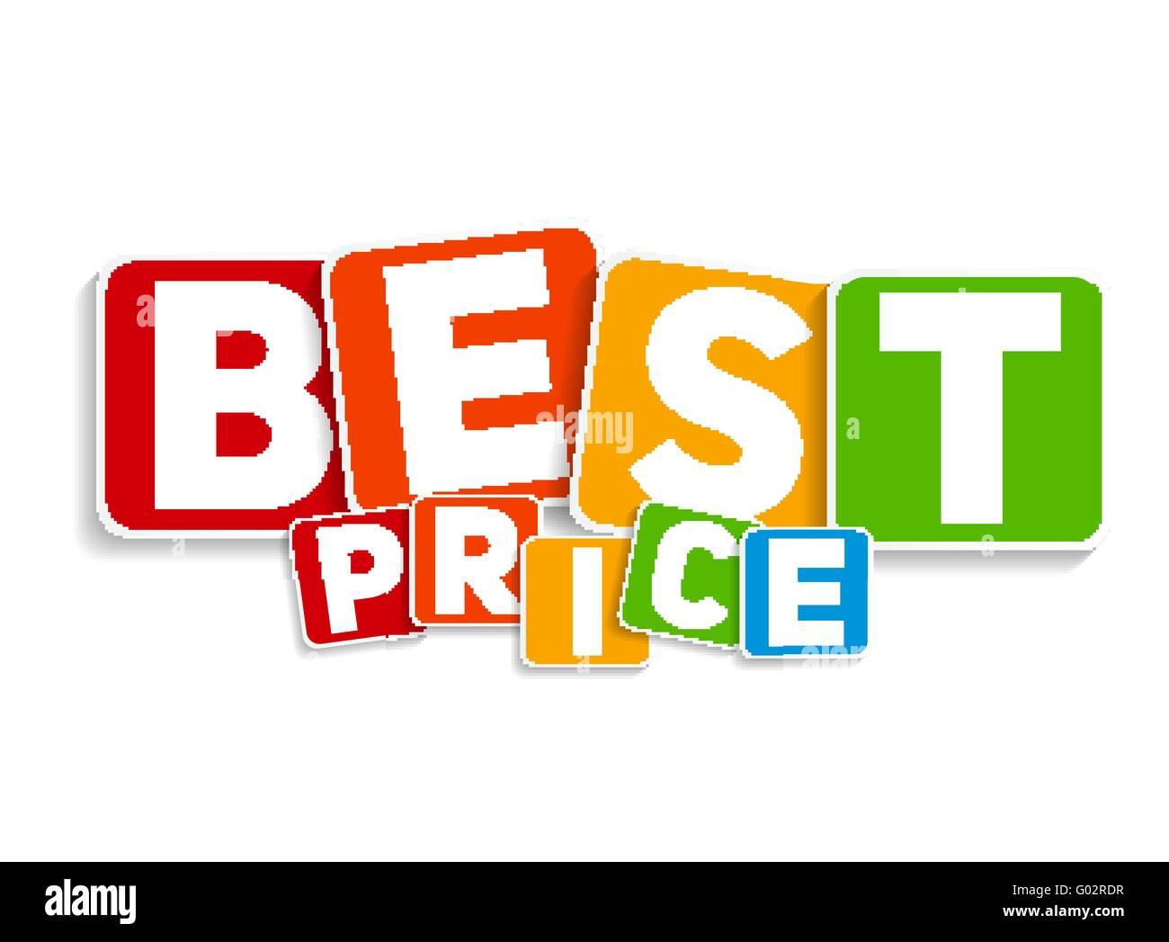 best price sign template vector illustration stock vector art