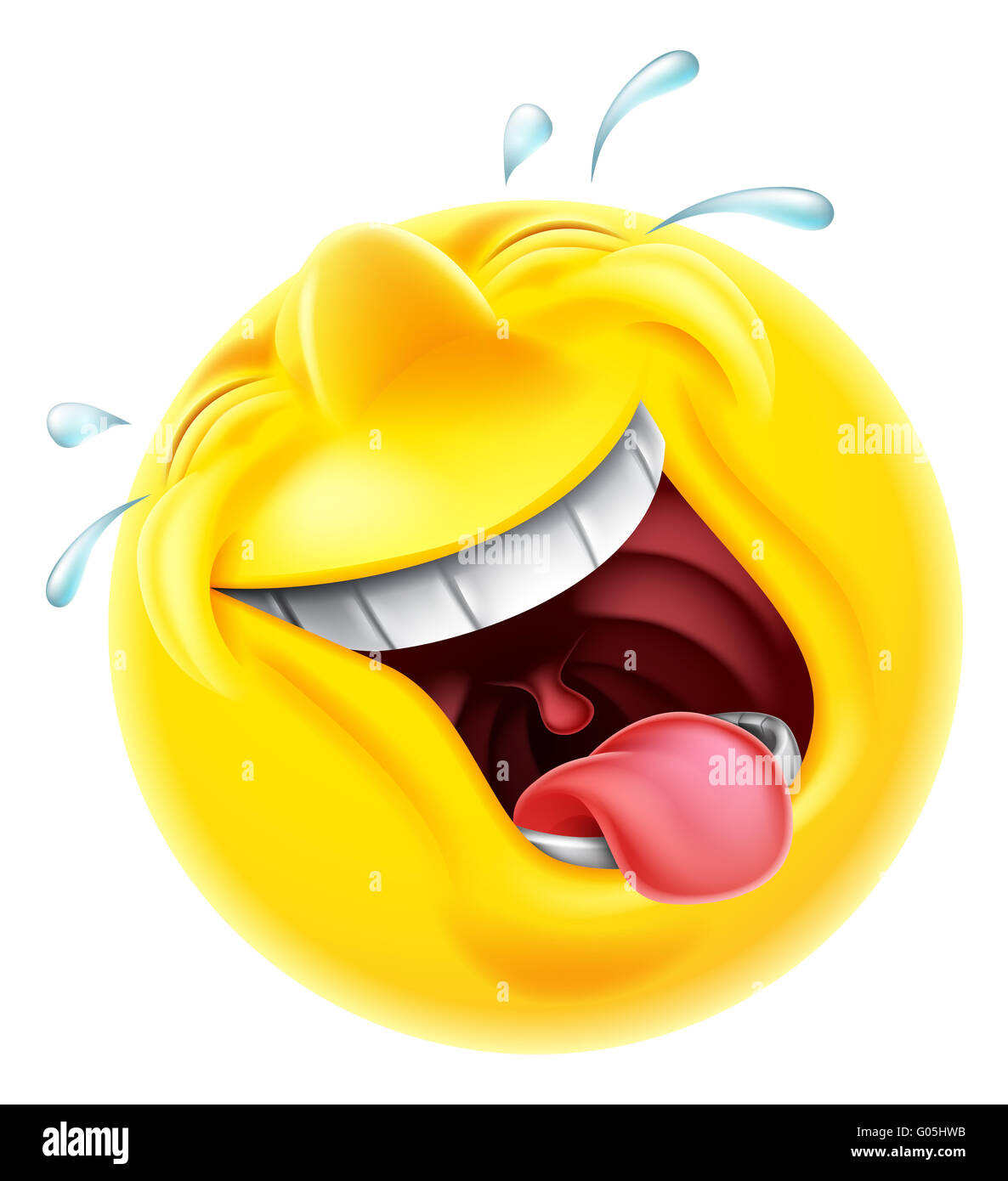 A very happy laughing emoji emoticon smiley face character ...
