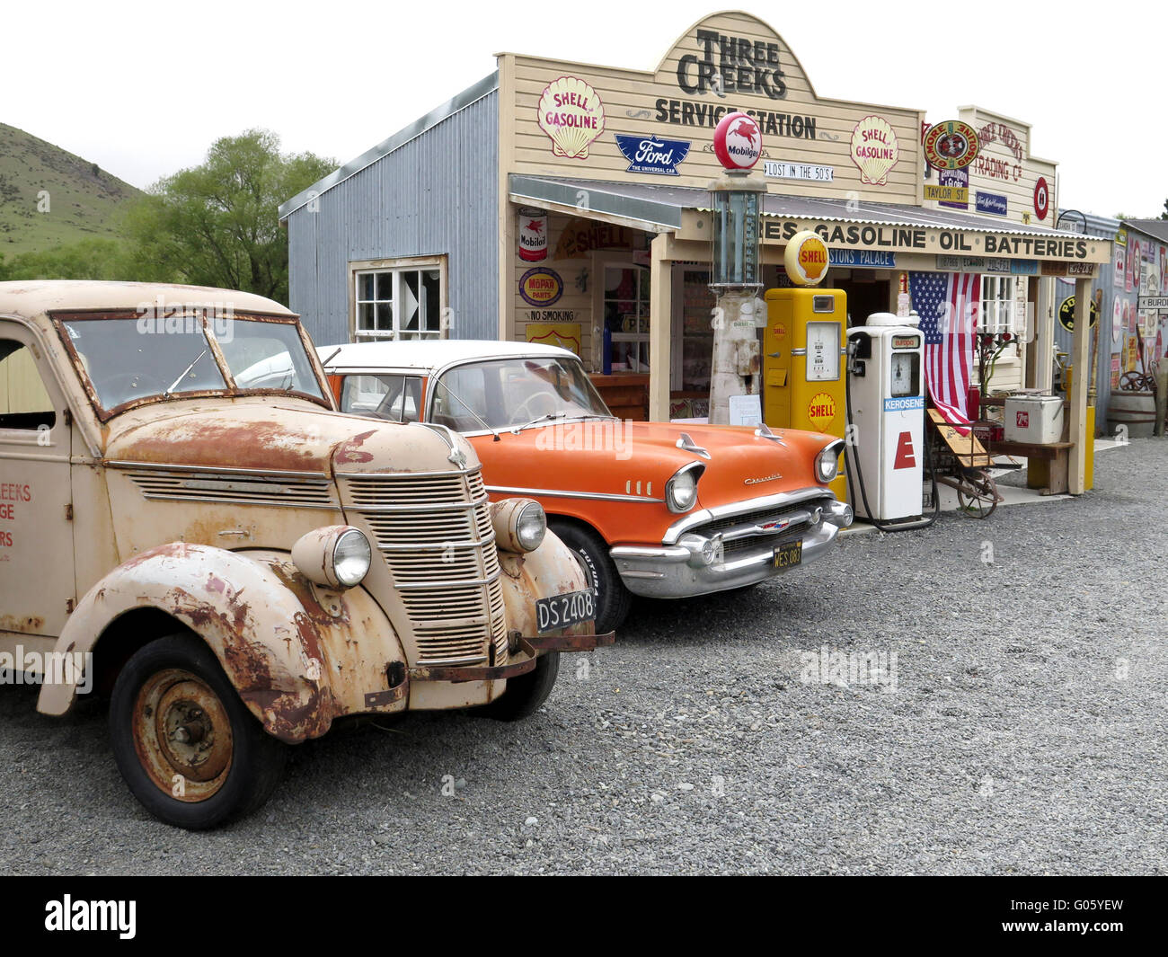 Chevrolet at three creeks service station south island new zealand