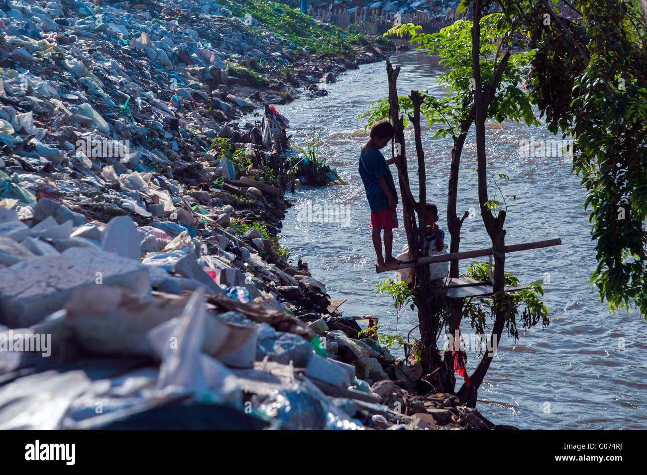 South Jakarta, Indonesia. 23rd Apr, 2016. Slum Area In Jakarta. In ...