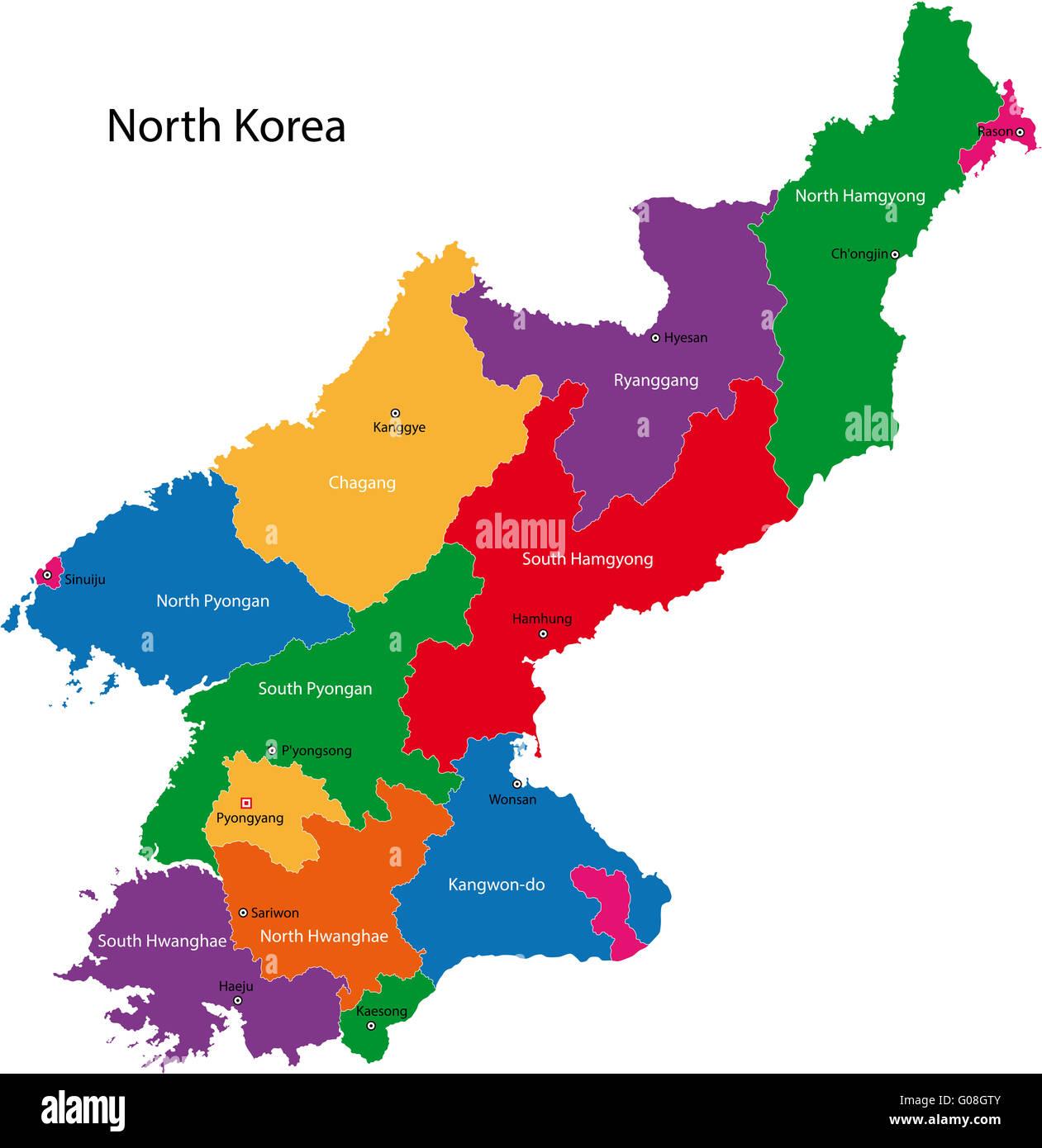 North Korea Map Stock Photo Royalty Free Image Alamy - North korea map