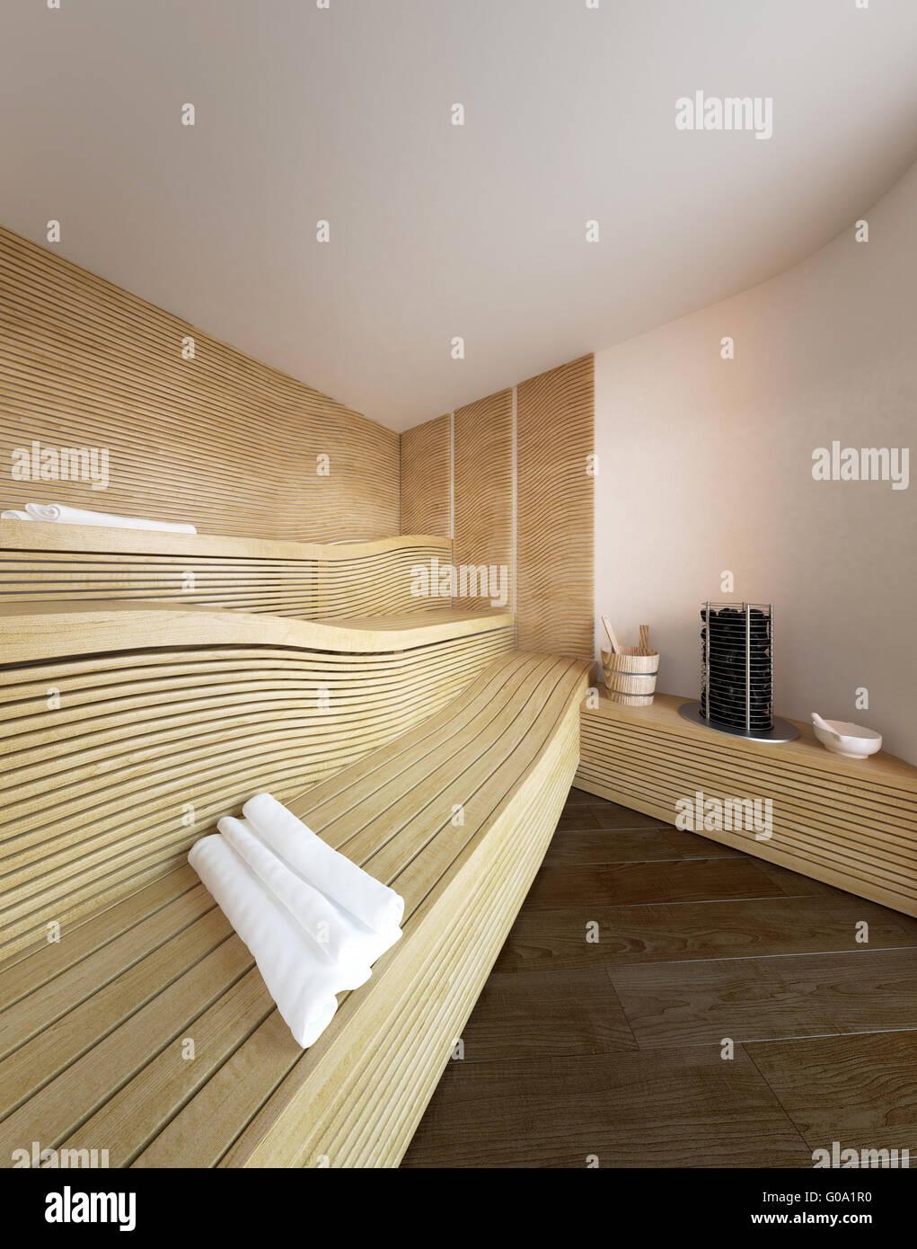Luxury Home Sauna Cedardirect Com: Architectural Interior Of Modern Sauna In Luxury Home With