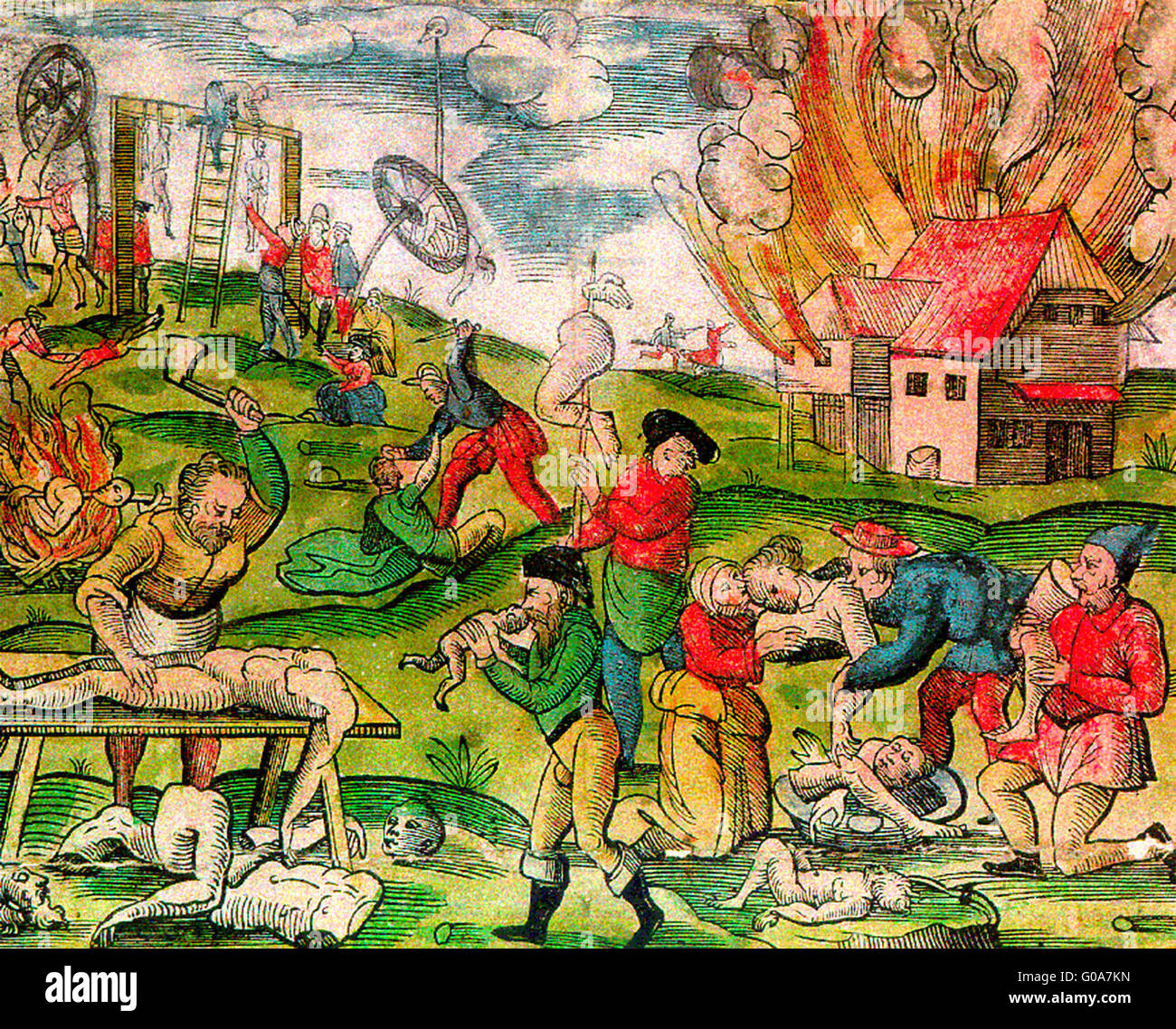 cannibalism Cannibalism in Lithuania during Russian invasion in 1571, German plate.  Cannibalism in Muscovy and