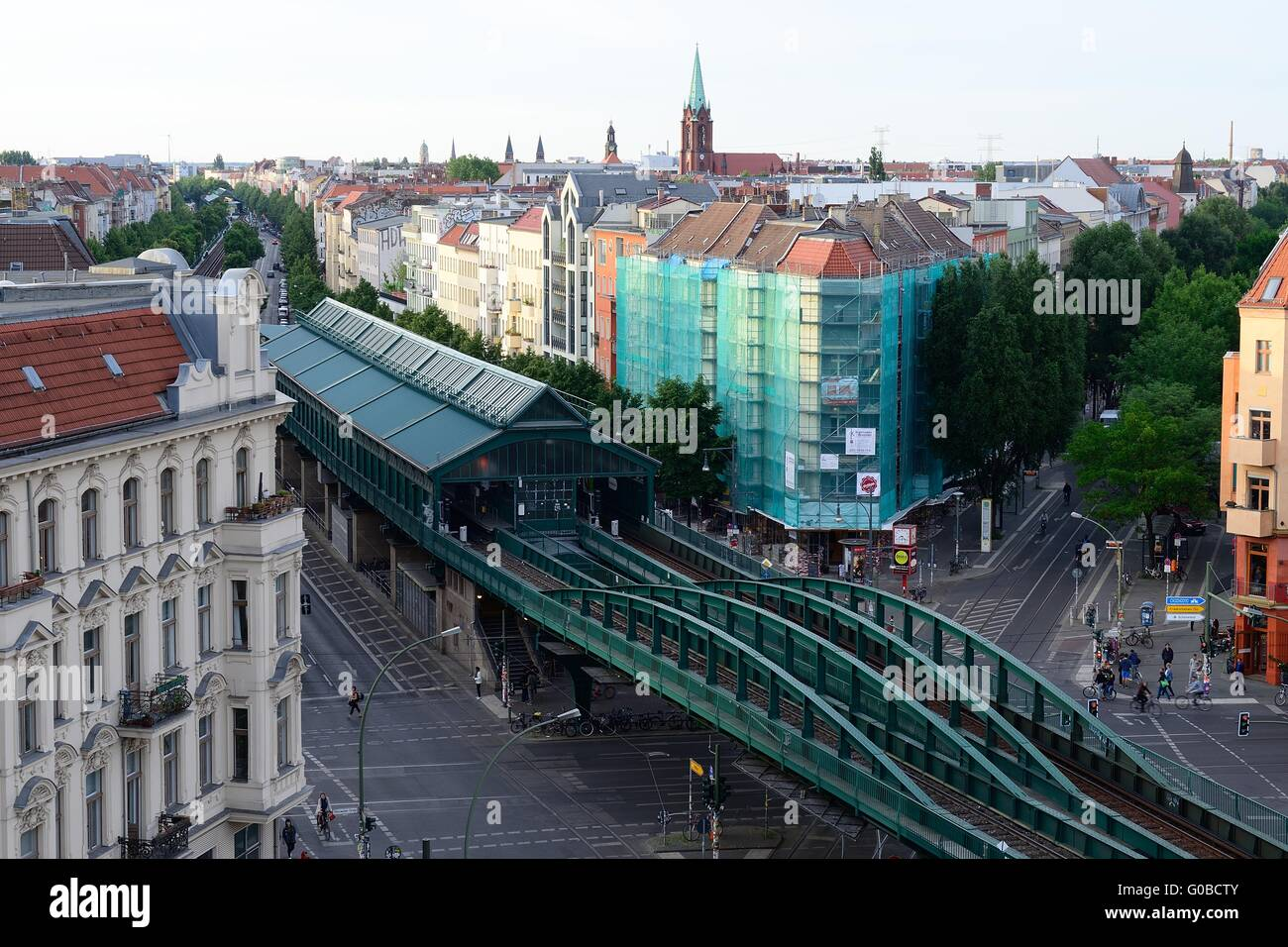 prenzlauer berg u bahn station berlin stock photo. Black Bedroom Furniture Sets. Home Design Ideas