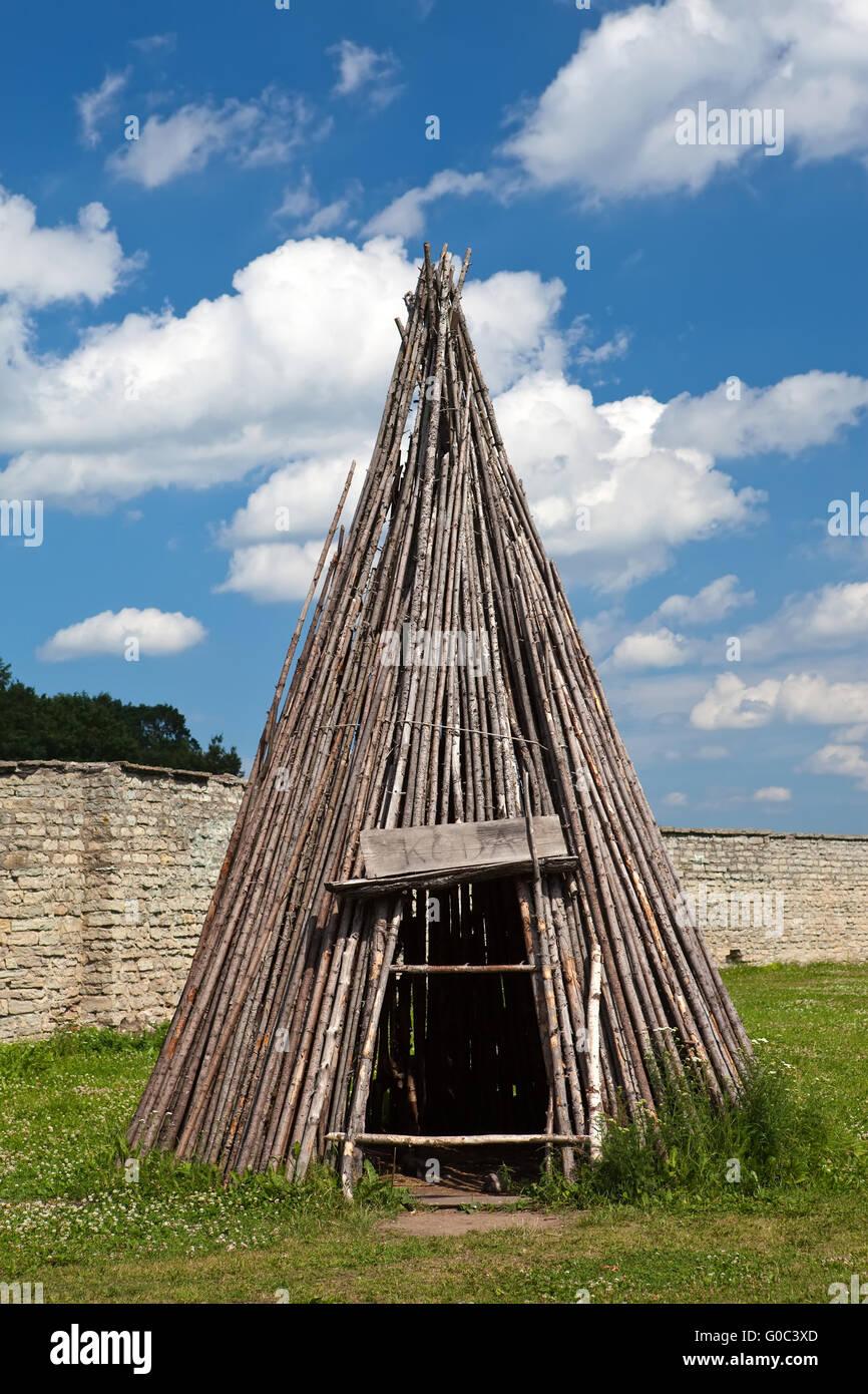 Traditional Estonian tent - koda-in Narva citadel & Traditional Estonian tent - koda-in Narva citadel Stock Photo ...