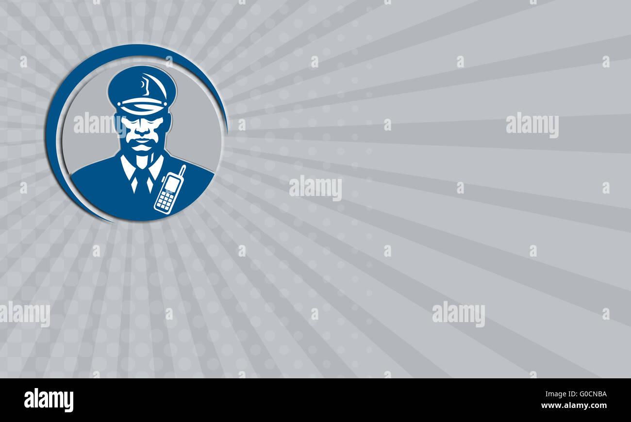 Business card Security Guard Police Officer Radio Circle Stock ...