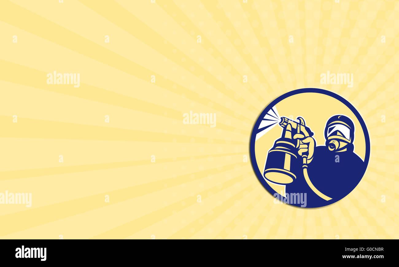 Business card Spray Paint Gun Painter Spraying Retro Stock Photo ...