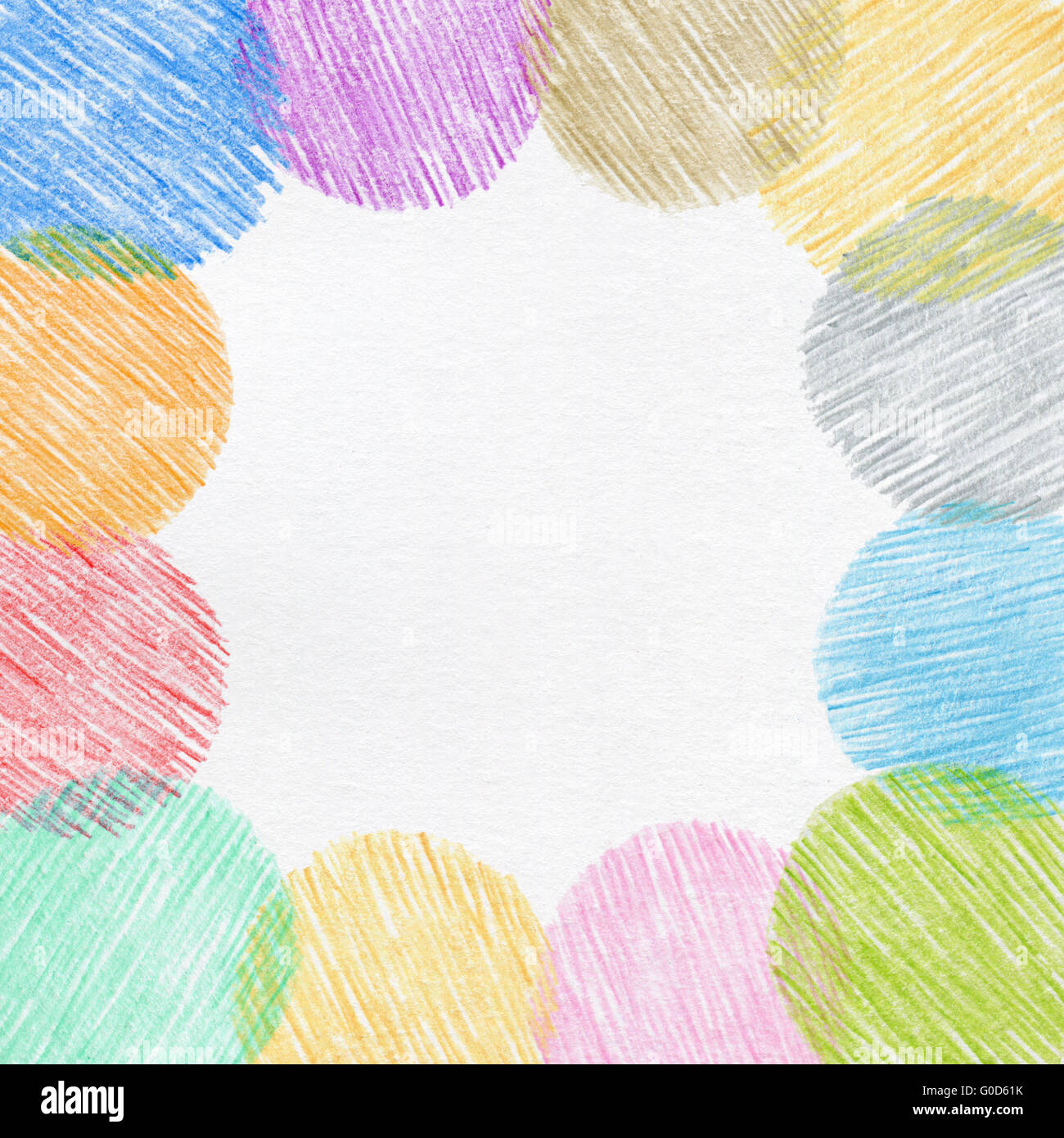 Drawingcolor Hand Drawing Color Pencil Frame Stock Photo Royalty Free Image