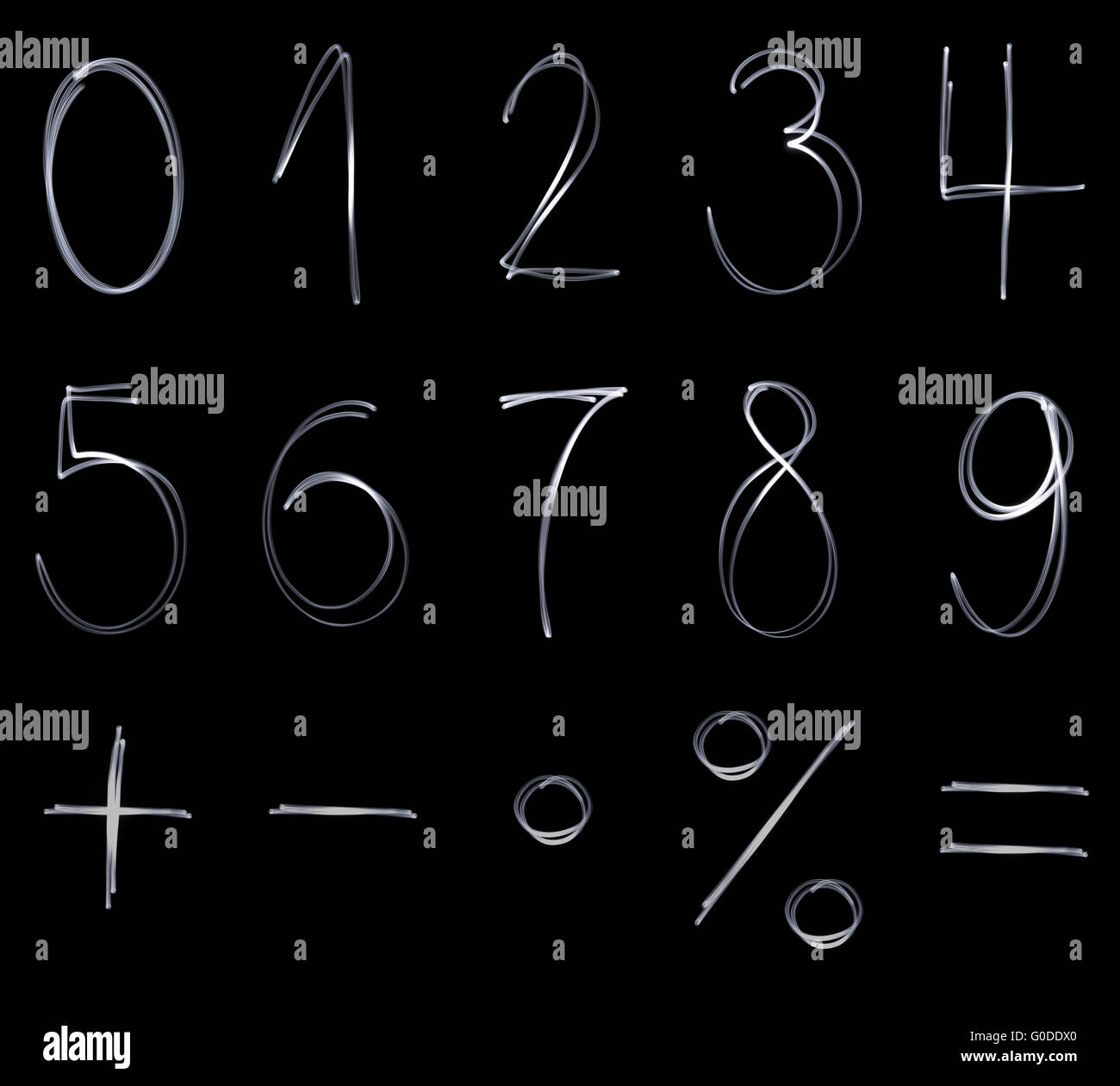 Different flourescent numbers and math symbols in stock photo different flourescent numbers and math symbols in buycottarizona