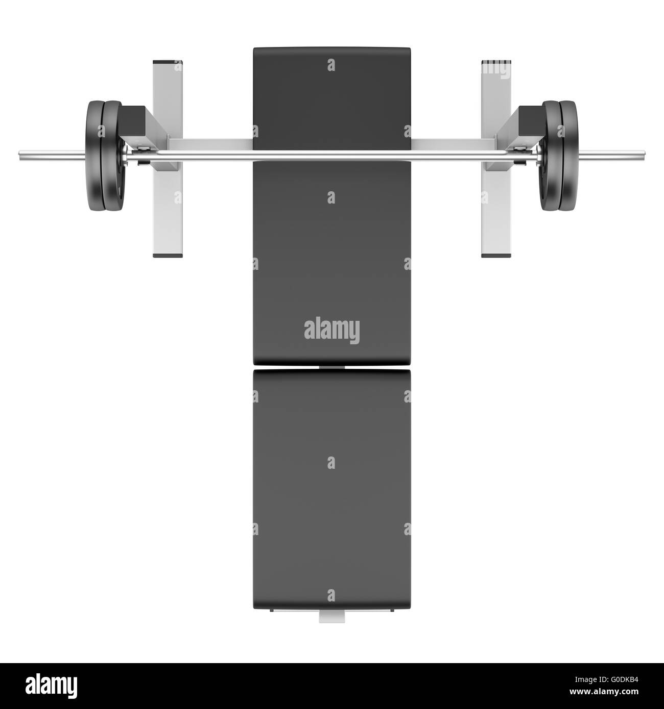 Bench Top View Top View Of Gym Flat Weight Bench With