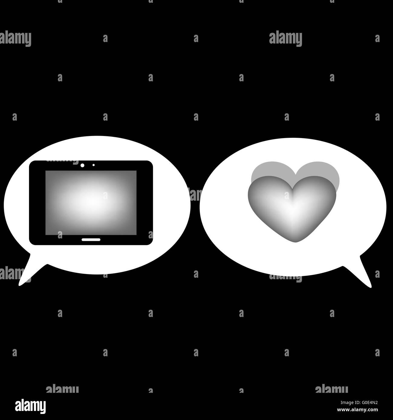 Communication tablet heart icons signs symbols stock photo communication tablet heart icons signs symbols biocorpaavc Gallery