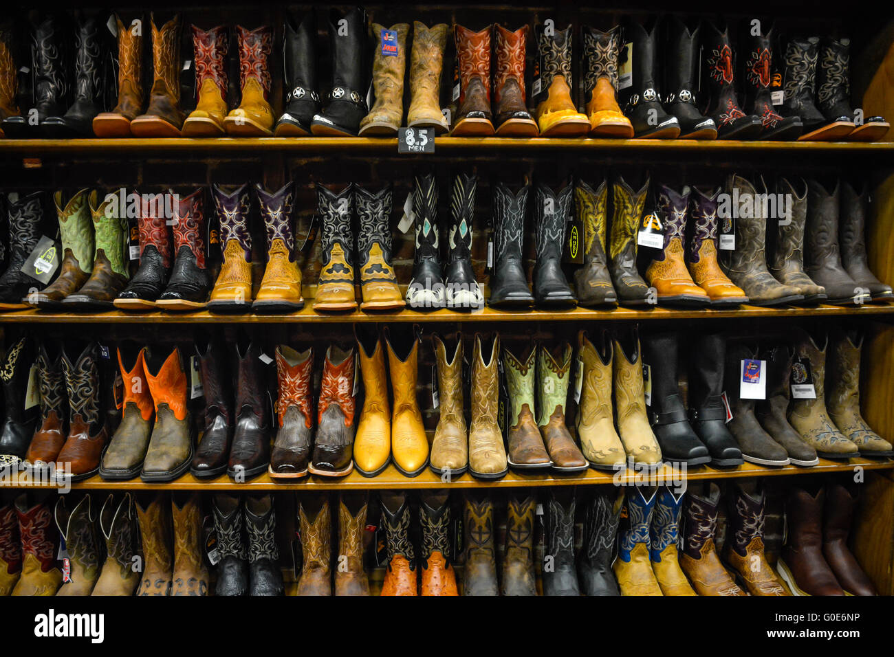 The Nashville Cowboy Boot Store Has Rows Of Unique Cowboy Boots ...