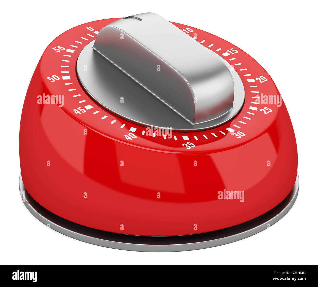 red modern kitchen timer isolated on white background stock photo  - stock photo  red modern kitchen timer isolated on white background