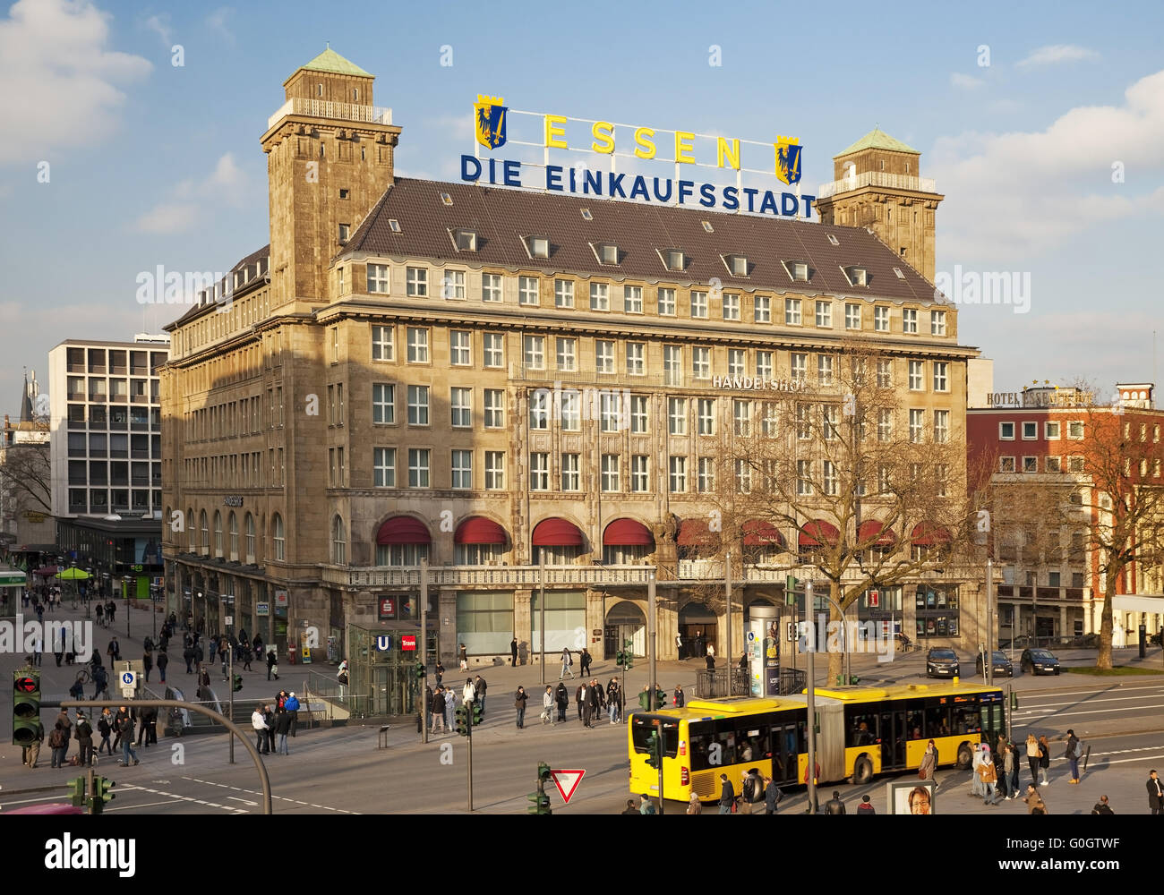 essen shopping city so it emblazoned since 1950 in large letters on stock photo royalty free. Black Bedroom Furniture Sets. Home Design Ideas